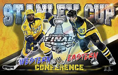 Digital Art - Stanley Cup 2017 by Don Olea