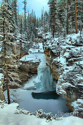 Photograph - Stanley Falls Canyon Winter Wonderland by Adam Jewell