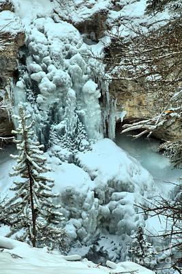 Photograph - Stanley Falls Frozen by Adam Jewell