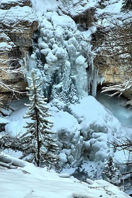 Photograph - Stanley Falls Winter Closeup by Adam Jewell