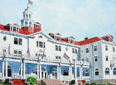 Stanley Hotel Two Art Print by Tom Riggs