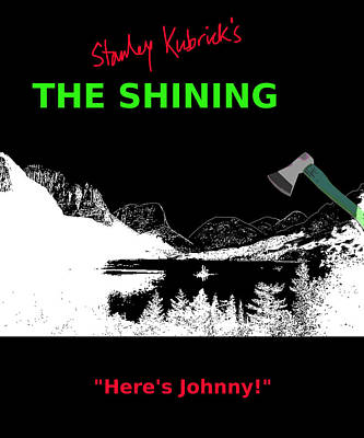 Stephen Barry Digital Art - Stanley Kubricks The Shining Movie Poster by Enki Art