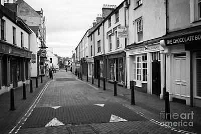 stanley street Holyhead town centre Anglesey Wales UK Art Print by Joe Fox