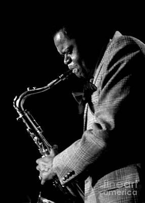 Saxophonist Photograph - Stanley Turrentine 1980 Miami Jazz Festival by Arni Katz