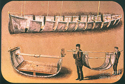 Painting - Stanleys Portable Boat by Granger