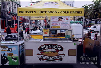 Photograph - Stanley's Steamers Hot Dog Stand On Post Street San Francisco California 5d17929 by San Francisco