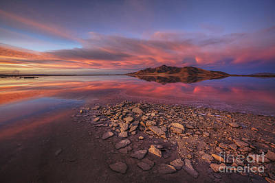 Sunset At A Favorite Spot On The Great Salt Lake Art Print