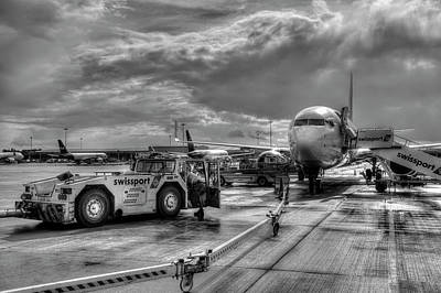 Photograph - Stanstead Airport Aircraft by David Pyatt