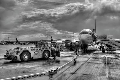 Photograph - Stanstead Airport Aircraft by David Pyatt