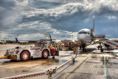 Photograph - Stanstead Airport  England by David Pyatt