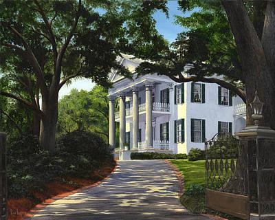 Natchez Painting - Stanton Hall by Ron Landry