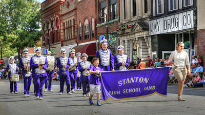 Photograph - Stanton Iowa High School Marching Band by J Laughlin