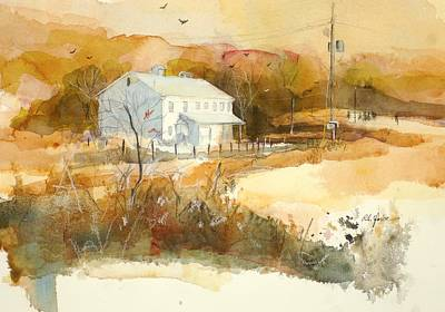 Grist Mill Painting - Stanton's Mill In Fall by Robert Yonke