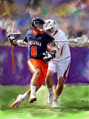 Scott Melby Painting - Stanwick Lacrosse by Scott Melby