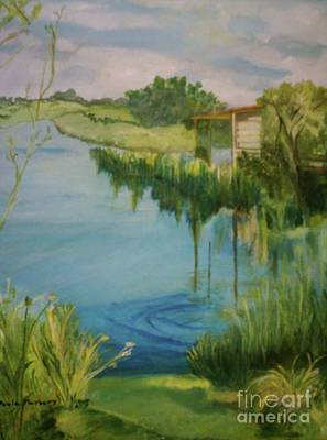 Painting - Stanwick Lakes by Paula Maybery