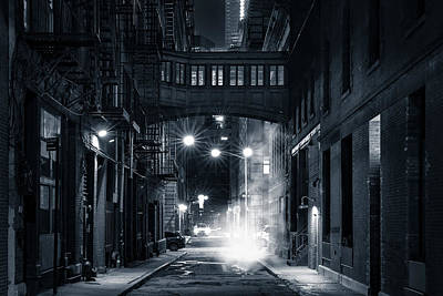 Photograph - Staple Street Skybridge By Night by Mihai Andritoiu