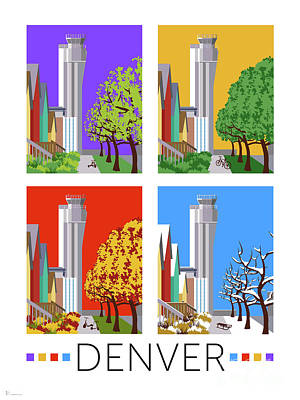 Digital Art - Stapleton Four Seasons by Sam Brennan