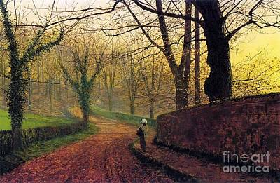 Grimshaw Painting - Stapleton Park Near Pontefract by MotionAge Designs
