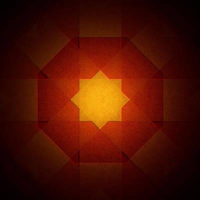Digital Art - Star 1 by Steve Ball