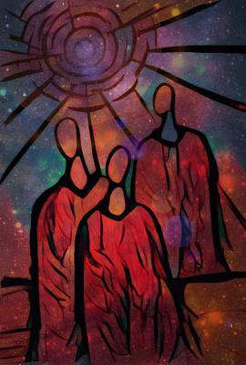 Alleyvision Digital Art - Star Ancestors by Heather Alley