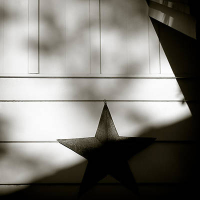 Shadow Abstract Photograph - Star And Stripes by Dave Bowman