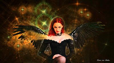 Digital Art - Star Angel  by Riana Van Staden