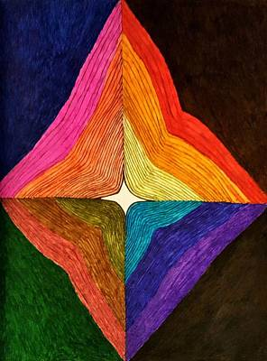 Abstract Design Drawing - Star Bright by Neal Alicakos