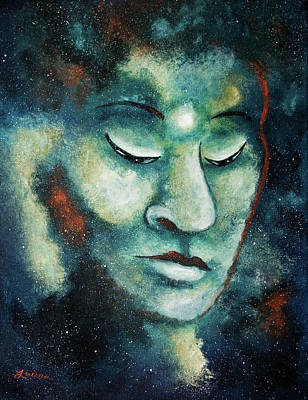 Painting - Star Buddha Of Teal Tranquility by Laura Iverson