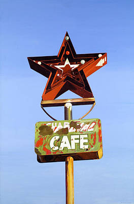 Custom Studio Painting - Star Cafe - Route 66 Texas by Jeff Taylor