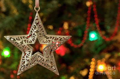 Photograph - Star - Christmas Greetings Card by Wendy Wilton