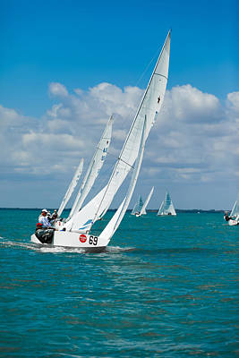 Photograph - Star Class Racing Yacht - Bacardi Cup 2009 by David Smith