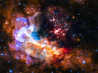 Star Cluster Westerlund 2 In Outer Space Art Print by Matthias Hauser