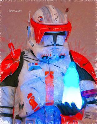 Battle Digital Art - Star Commander Cody Order 66  - Pencil Style -  - Da by Leonardo Digenio
