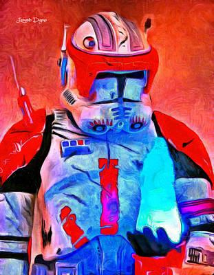 The Empire Strikes Back Digital Art - Star Commander Cody Order 66  - Van Gogh Style -  - Da by Leonardo Digenio
