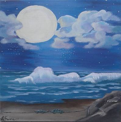 Bob Ross Style Painting - Star Crossed by Lori Lafevers