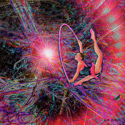 Computer Art Mixed Media - Star Dancer by Michael Durst
