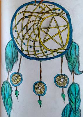 Dreamcatcher Drawing - Star Dreamcatcher  by Shy Butterfly