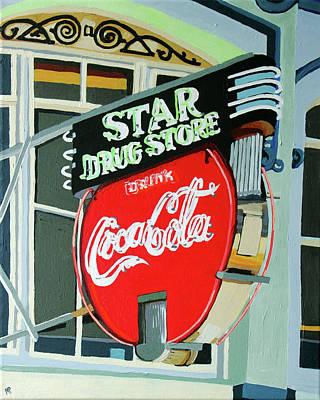 Painting - Star Drug Stpre by Melinda Patrick