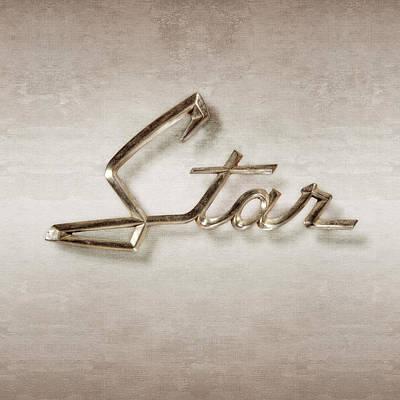 Classic Car.hot-rod Photograph - Star Emblem by YoPedro