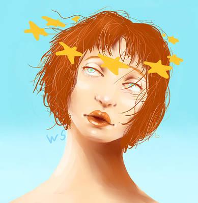 Digital Art - Star Eyed by Willow Schafer