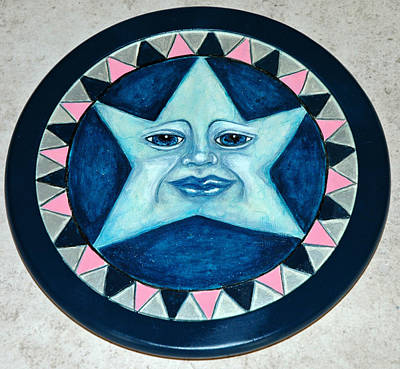 Lazy Mixed Media - Star Face Lazy Susan by Mickie Boothroyd