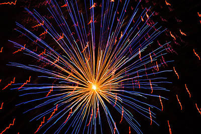 Photograph - Star Fireworks by Yulia Kazansky