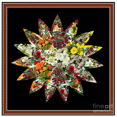 Digital Art - Star Flower Bouquet Creation By Navinjoshi At Fineartamerica.om Graphics Art   Elegant Interior Deco by Navin Joshi