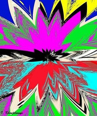 Digital Art - Star Flower by Isaac Khonjelwayo