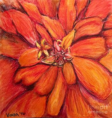 Drawing - Star Flower by Vonda Lawson-Rosa