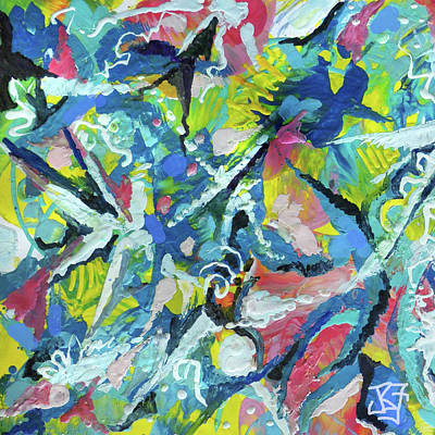 Painting - Star Forming by Jean Batzell Fitzgerald