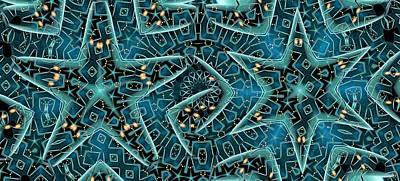Digital Art - Star Forms by Ron Bissett
