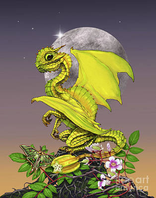 Digital Art - Star Fruit Dragon by Stanley Morrison
