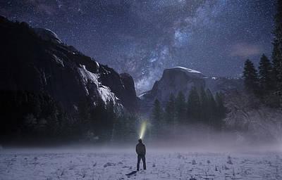 Star Gazer Midnight Art Print by Fbmovercrafts