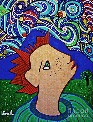 Drawing - Star Gazer by Sarah Loft